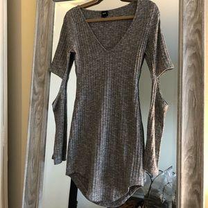 LF Knit Grey Cutout Dress